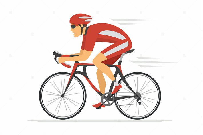 Thumbnail for Cycling - vector cartoon character illustration