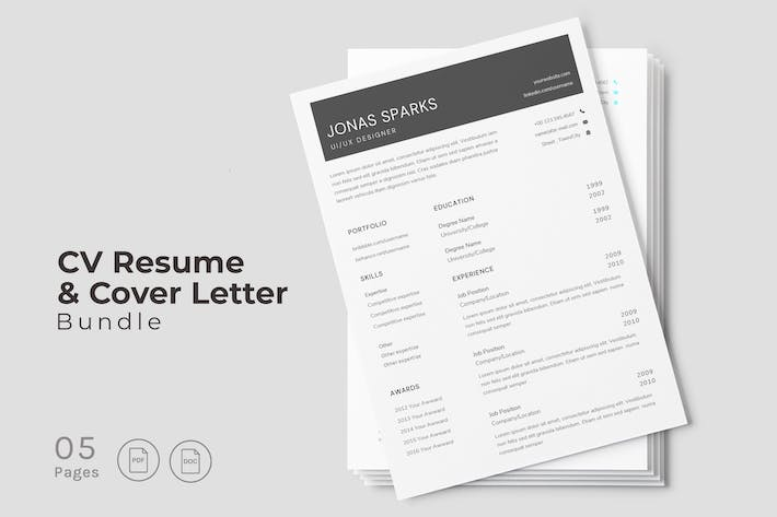 Thumbnail for Elegance CV Resume Design