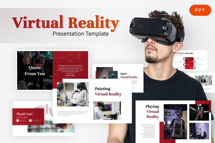 Thumbnail for Virtual Reality - Gaming Powerpoint Vorlage