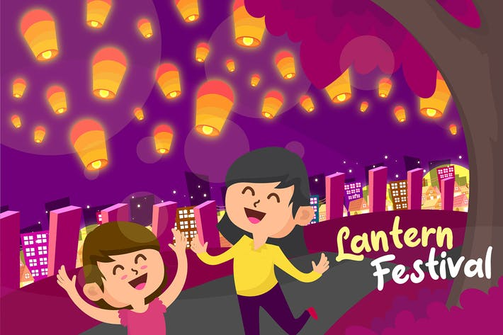 Thumbnail for Lantern Festival - Vector Illustration
