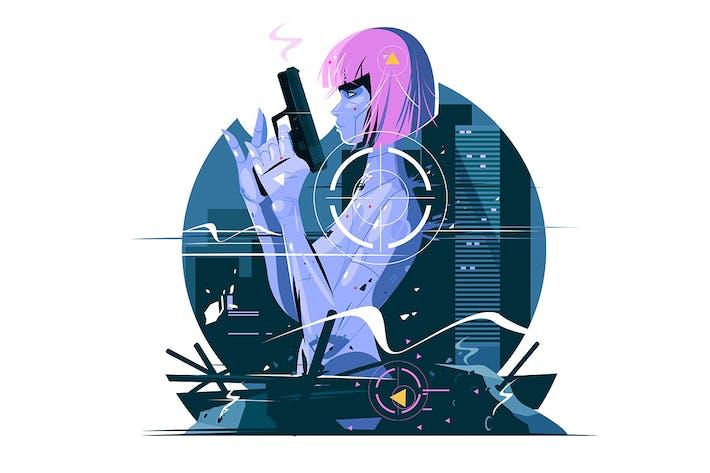Thumbnail for Killer Woman with Gun
