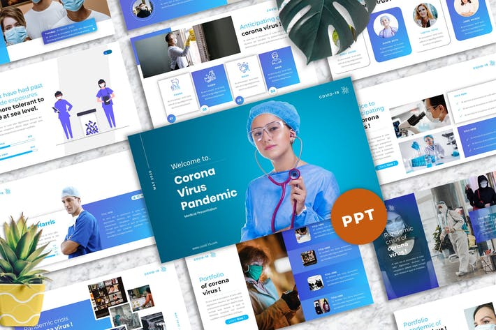 Thumbnail for Corona Virus - Medical PowerPoint Template