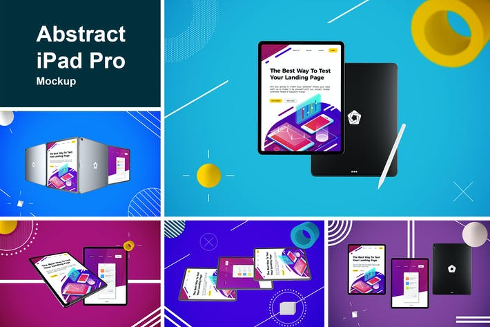 Thumbnail for Abstract iPad Pro MockUp