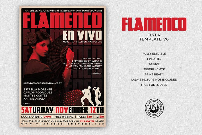 Thumbnail for Flamenco Flyer Template V6