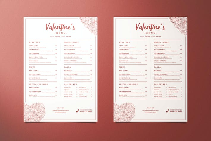 Thumbnail for Valentine's Food Menu
