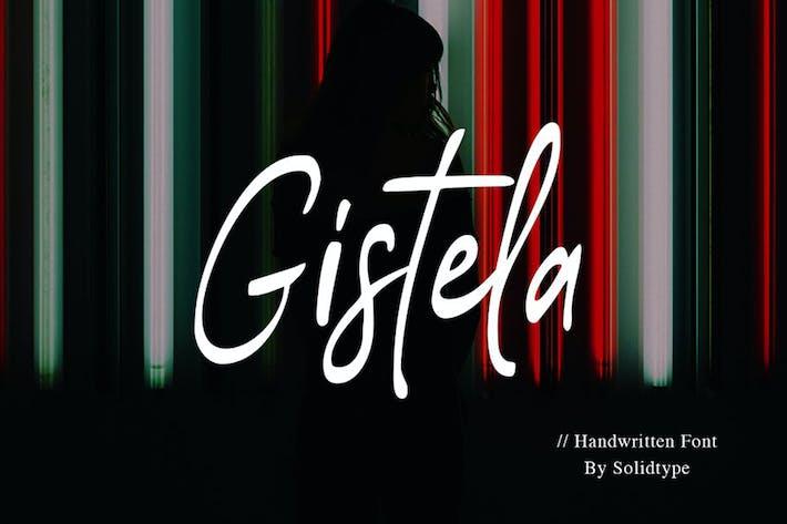 Thumbnail for Gistela | Handwritten Font