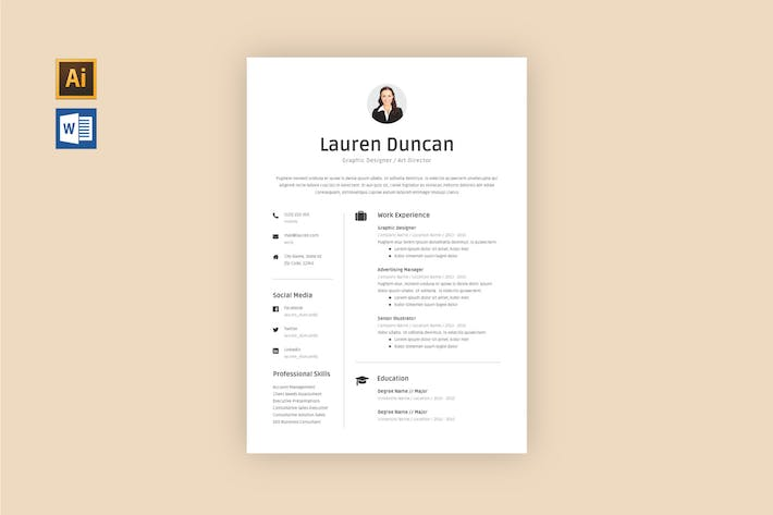Thumbnail for Resume Template V.3