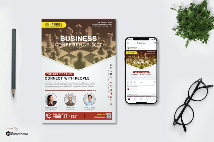 Thumbnail for Hardbus Business Conference - Flyer & Instagram HR