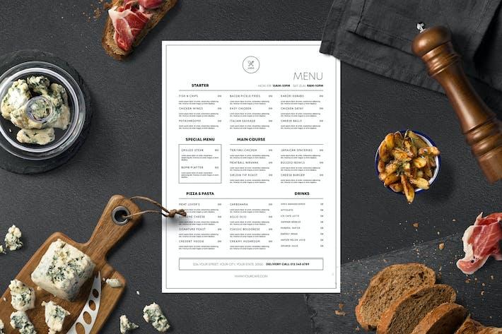 Thumbnail for Minimalist Food Menu