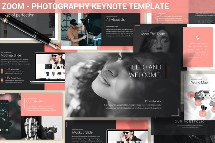 Thumbnail for Zoom - Photography Keynote Template