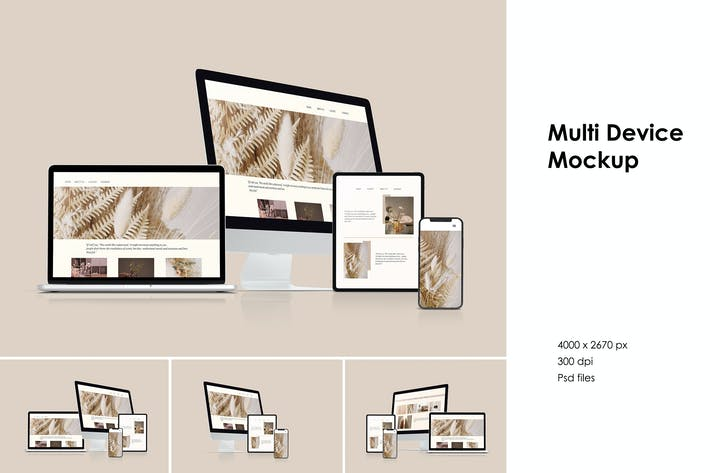 Thumbnail for Multi Device Mockup vol 1