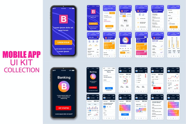 Thumbnail for Big Collection Banking Mobile App Ui Kit Screen