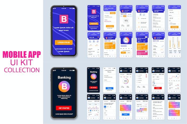 Thumbnail for Big Коллекция Banking Мобильное Приложение Ui Kit Экран