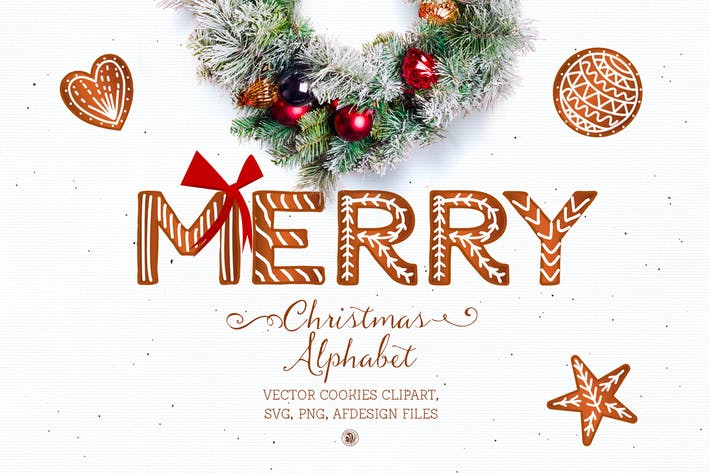 Thumbnail for Christmas Alphabet - Cookies letters