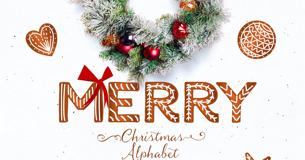 Download Christmas Alphabet - Cookies letters by Webvilla
