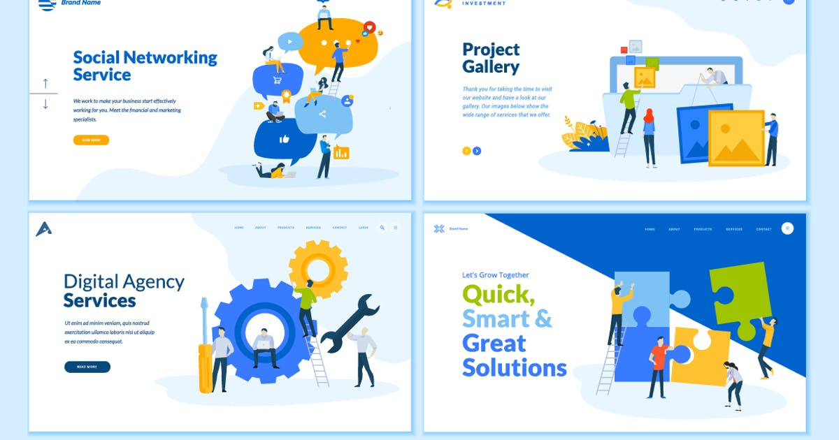 Download Set of Web Page Design Templates by PureSolution
