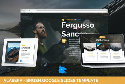 Alasera - Brush Google Slides Template