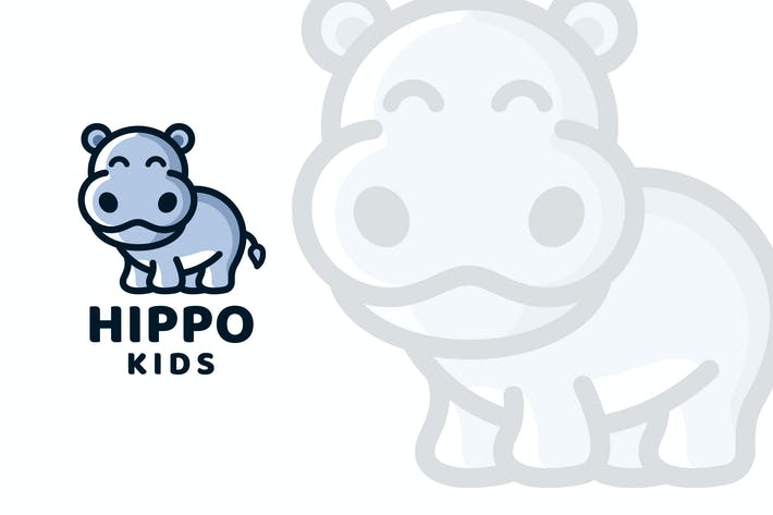 Thumbnail for Hippo Kids Logo Template