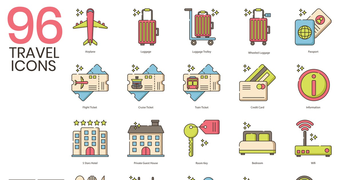 Download 96 Travel Icons   Hazel by Krafted