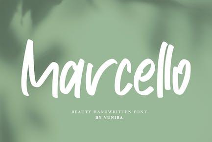 Marcello | Belleza Fuente Escrito a Mano