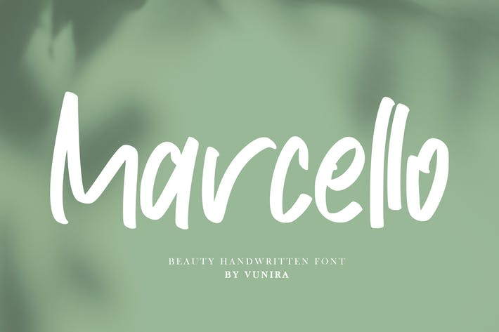 Thumbnail for Marcello | Beauty Handwritten Font