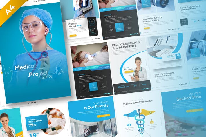 Thumbnail for Medipro Portrait Medical PowerPoint Template