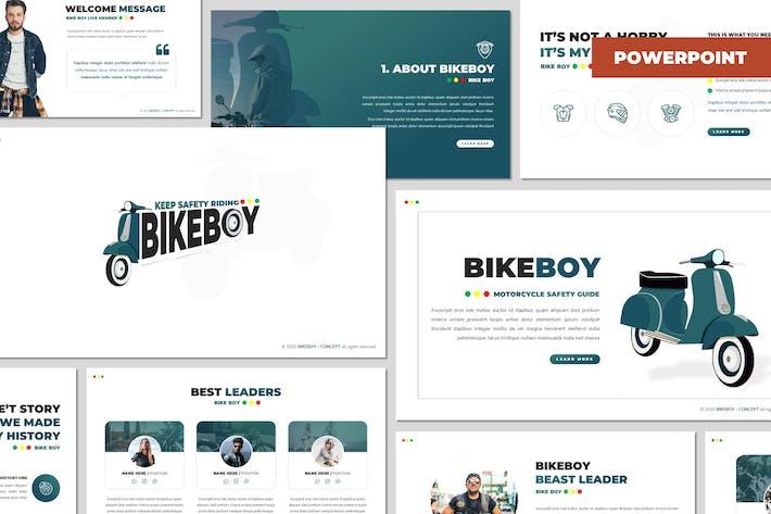 Thumbnail for Bikeboy - Automotive Powerpoint Template