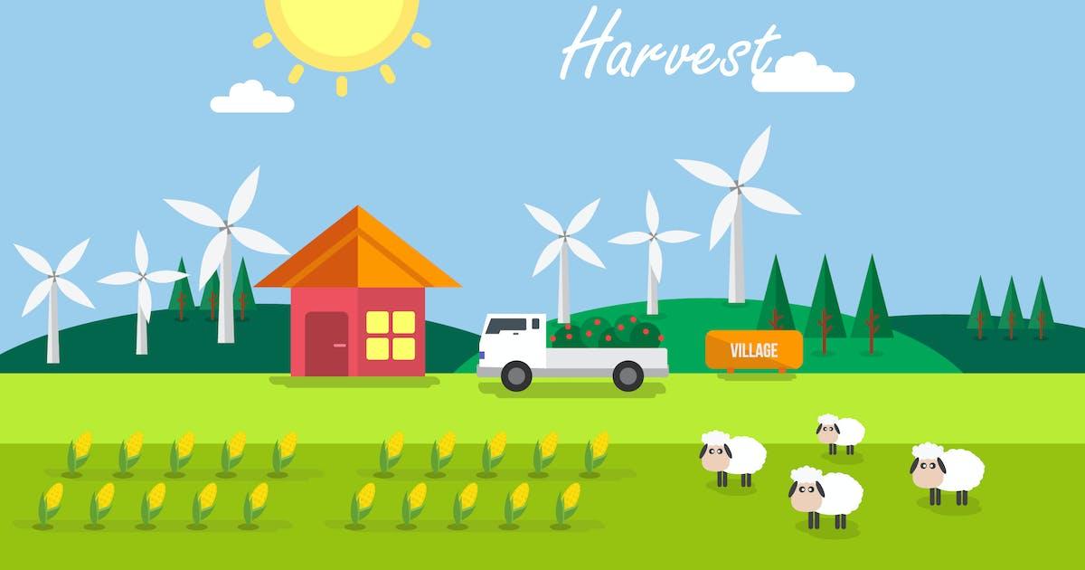Download Summer Harvest - Illustration Background by Graphiqa