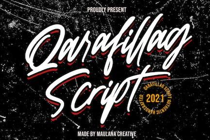 Qarafillag Script Authentic Handcrafted Font