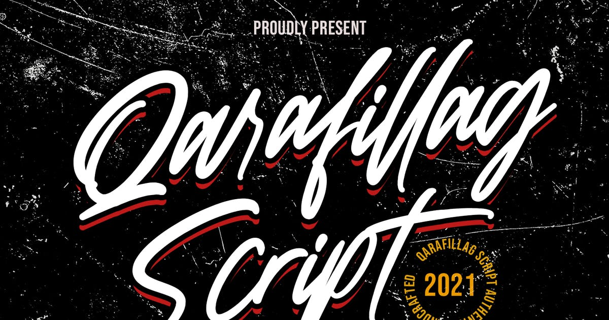 Download Qarafillag Script Authentic Handcrafted Font by maulanacreative