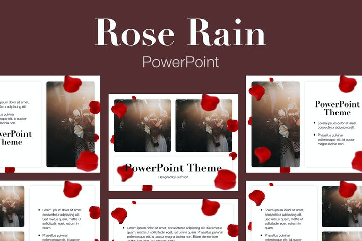 Thumbnail for Rose Rain PowerPoint Template