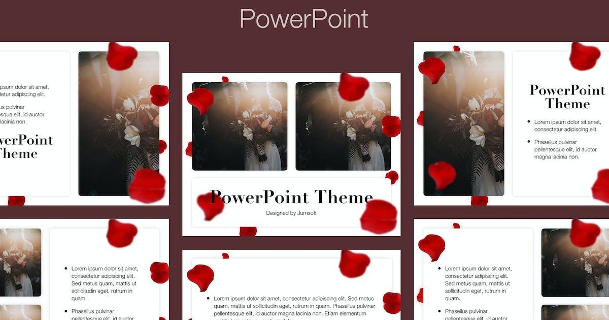 Download Rose Rain PowerPoint Template by Jumsoft