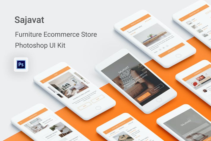 Thumbnail for Sajavat - Furniture Ecommerce Store for Photoshop