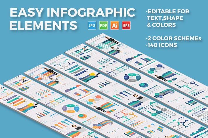 Инфографический дизайн элементов