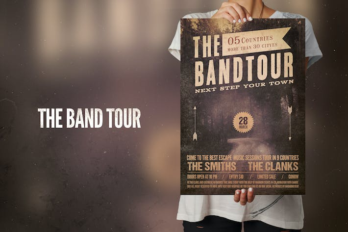 Thumbnail for The Band Tour Flyer Poster
