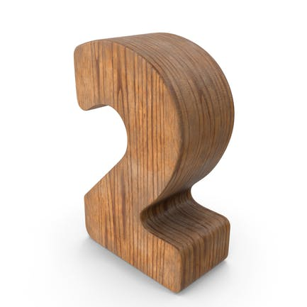 2 Wooden Number
