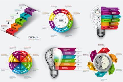 Вектор Шаблон Инфографика
