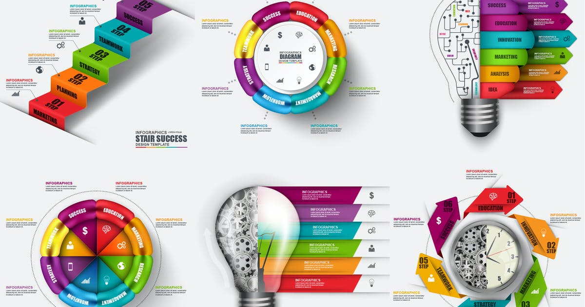 Download Infographics Vector Template by alexdndz