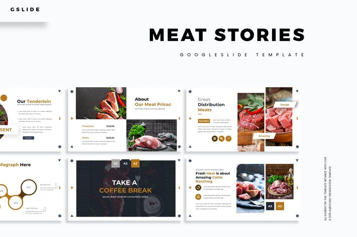 Meat Stories - Google Slides Template