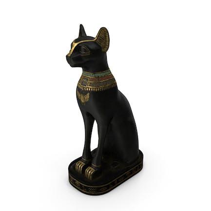 Statue der alten ägyptischen Katze Schwarz