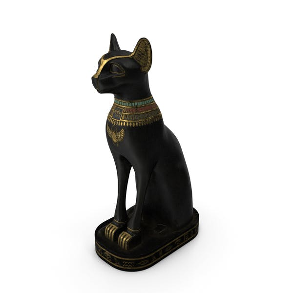 Ancient Egyptian Cat Statue Black