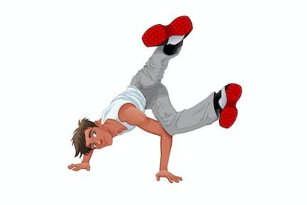 Funny Breakdancer