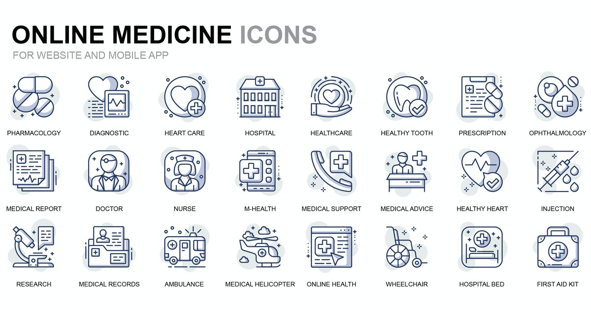 Download Healthcare and Medical Thin Line Icons by alexdndz