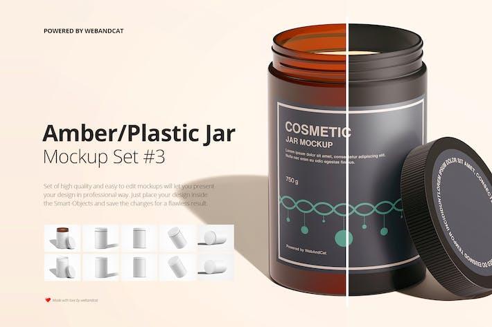 Thumbnail for Amber / Plastic Jar Mockup Set 3