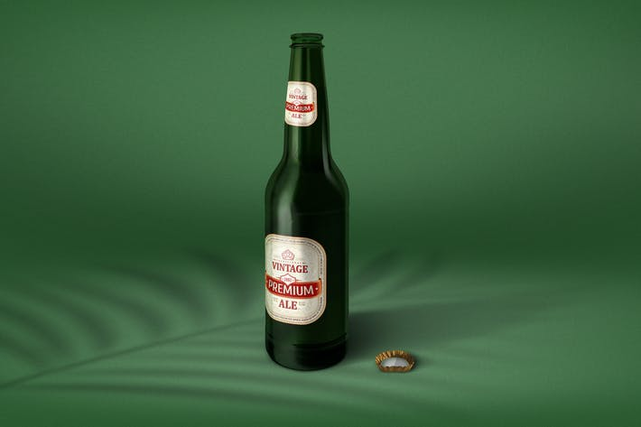 Thumbnail for Realistic Beer Bottle Mockup