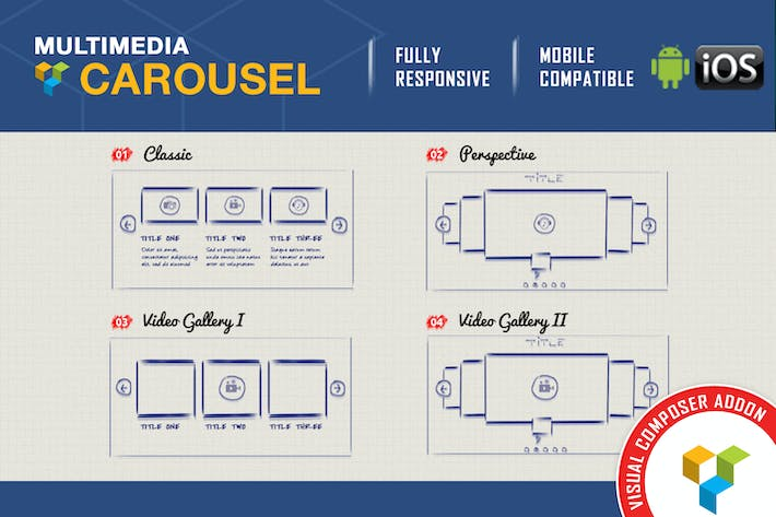 Thumbnail for Visual Composer Addon - Multimedia Carousel