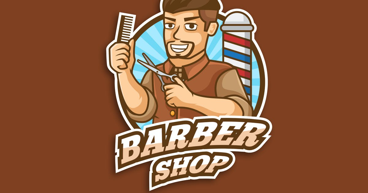 Download Professional Barbershop Occupation Logo Vector by naulicrea