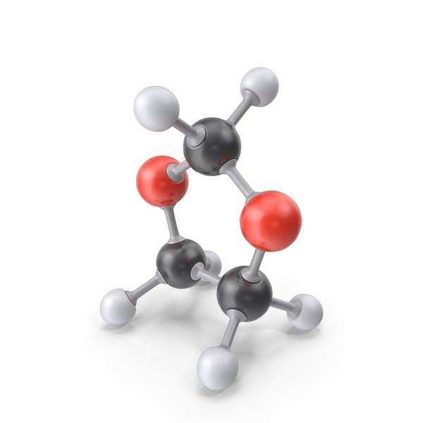 Диоксолан Молекула