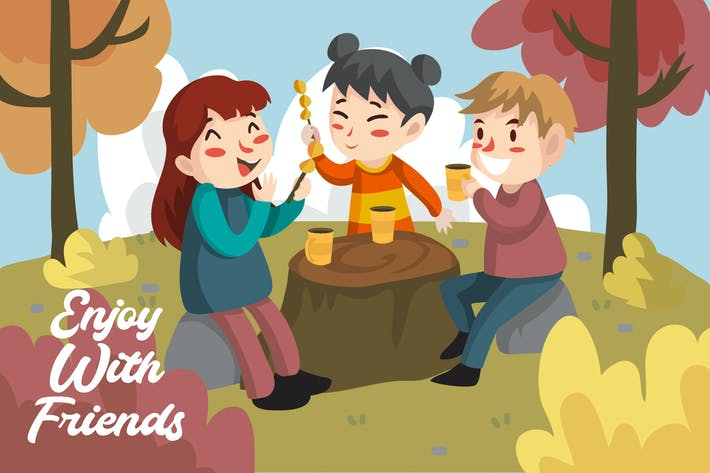 Thumbnail for Enjoy friends - Illustration