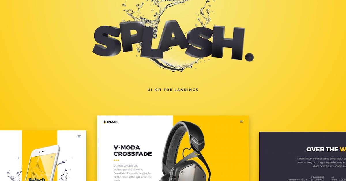 Splash UI Kit for Sketch by nickparkerdesign